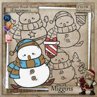 CU/CU4CU Template Stamp/Brush pack Snowmen