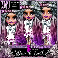 CU/PU Sienna Rose Gray Into Purple Spring/Summer Doll PSP Tube