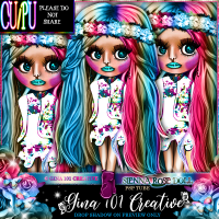 CU/PU Sienna Rose Multi Colour Spring/Summer Doll PSP Tube