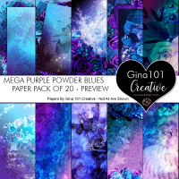 Mega Purple Powder Blues 20 Pack Of Papers