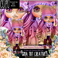 CU/PU Donnalee Sweet Winter Doll PSP Tube