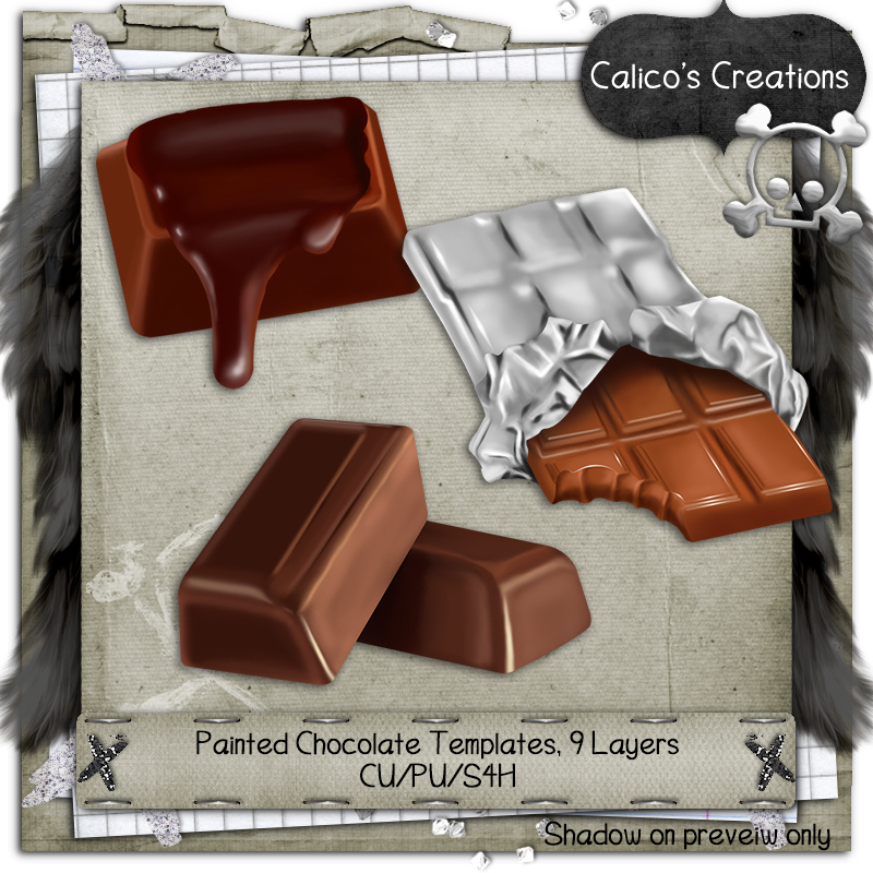 Painted Chocolate Templates - Click Image to Close