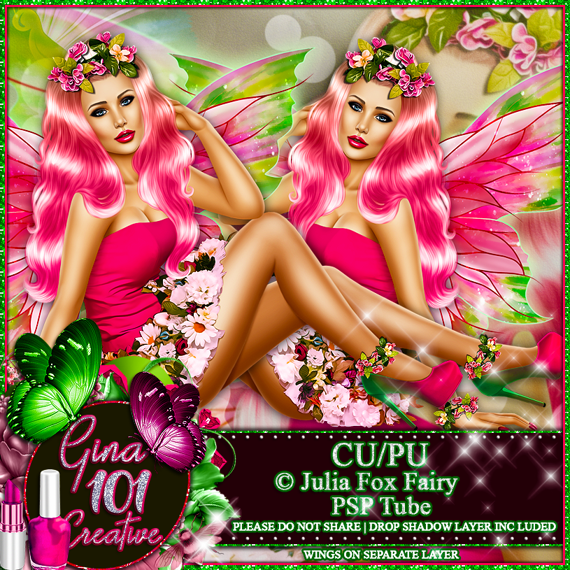 CU/PU Julia Fox Fairy PSP Tube