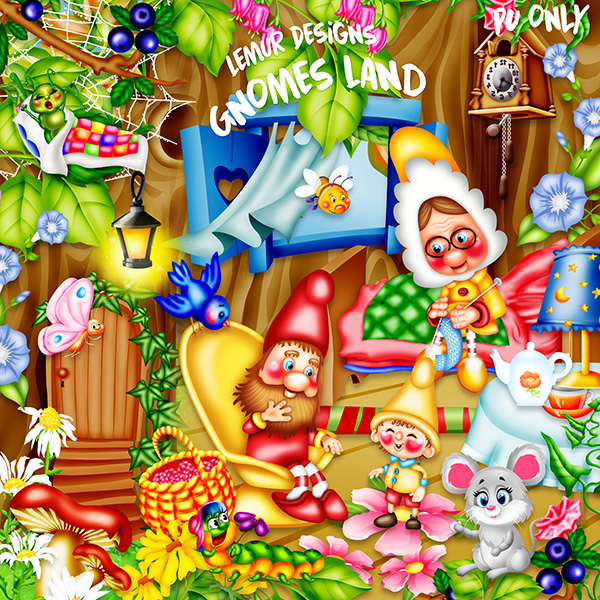 Gnomes Land Kit by Lemur Designs