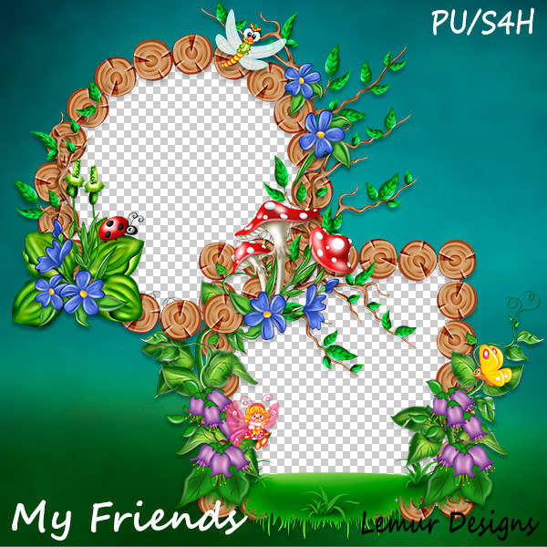 My Friends Clusters 1 by Lemur Designs