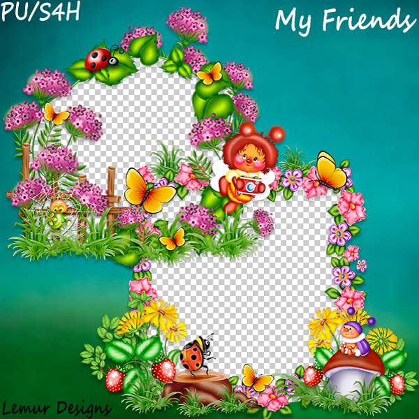 My Friends Clusters 2 by Lemur Designs