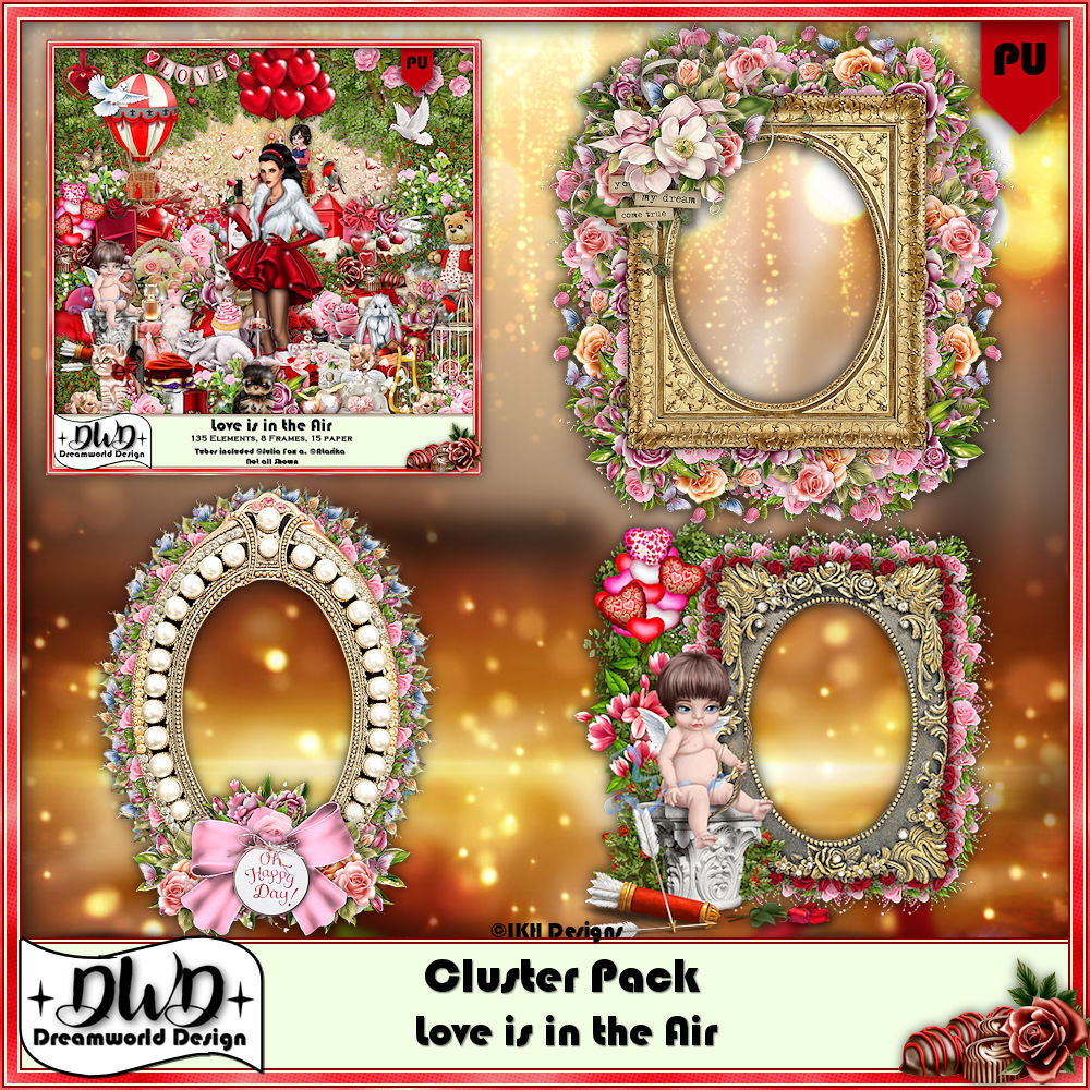 Cluster Frames *Love is in the Air*