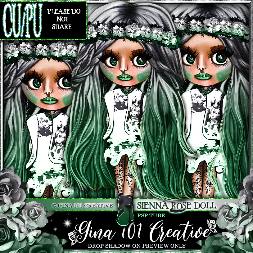 CU/PU Sienna Rose Gray/Green Spring/Summer Doll PSP Tube