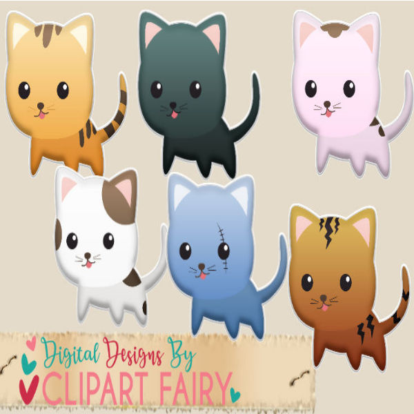 Adorable Kitten Puffy Stickers