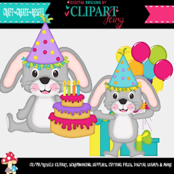 Birthday Bunnies svg files