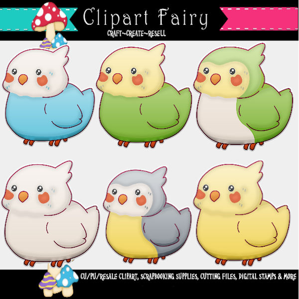 Cute Colorful Chicks Puffy Stickers