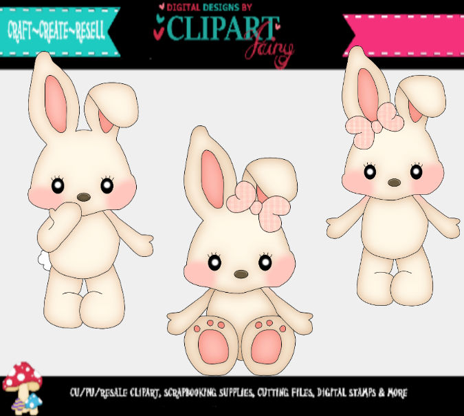Little White Bunnies svg file