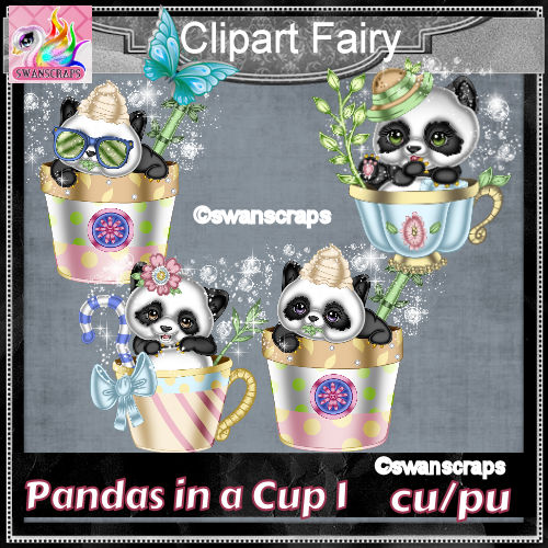 Panda's in a cup 1