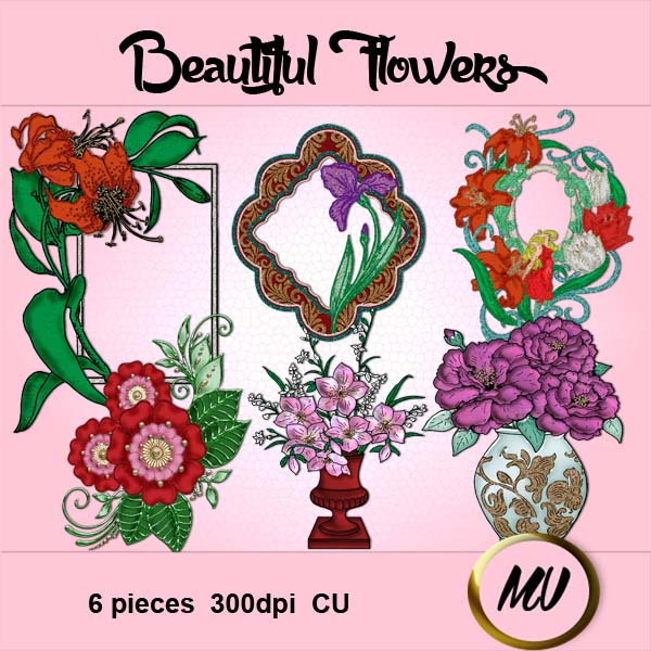 Beautiful Flowers element pack