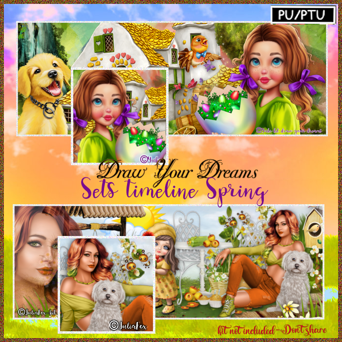 Spring -timeline pack - Click Image to Close