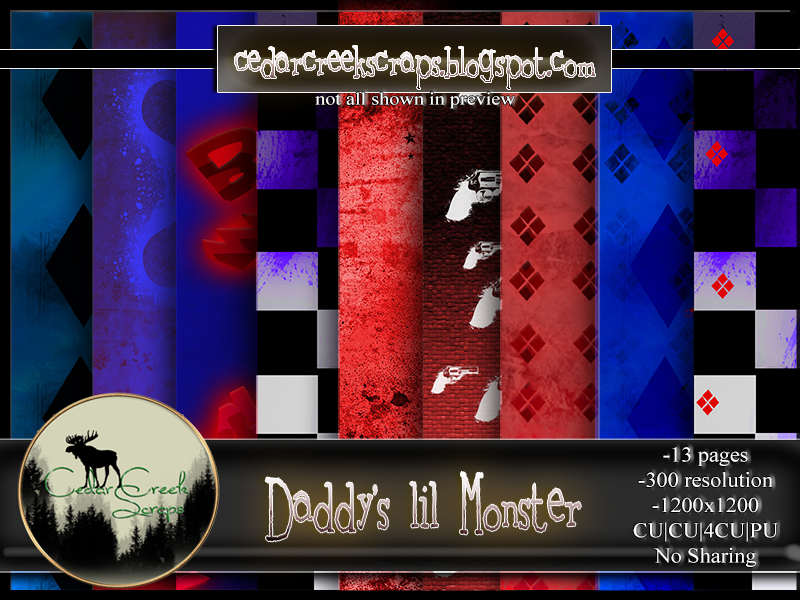 CCD-Daddy's lil Monster-Paperpack