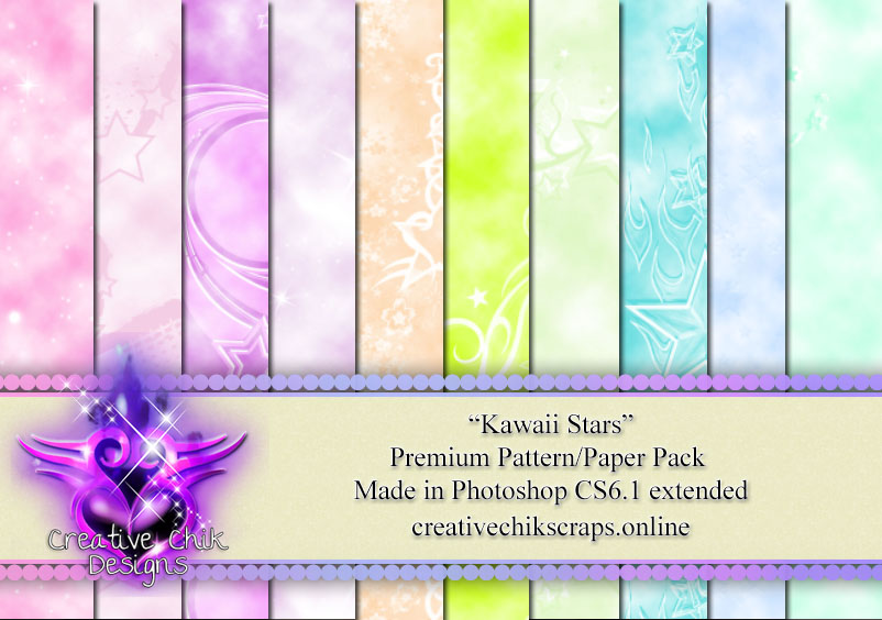 CCD-Kawaii Stars Paper/Pattern Pack
