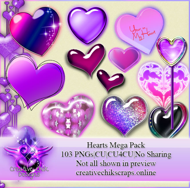 CCD-Hearts Mega Clipart Pack