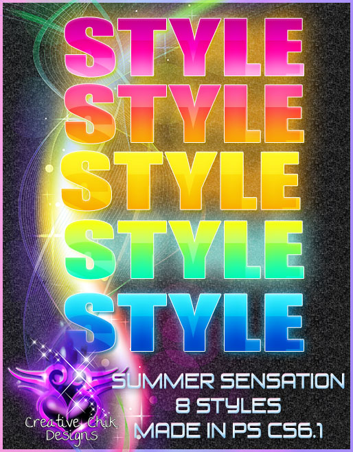 CCD-Summer Sensations-Photoshop Styles