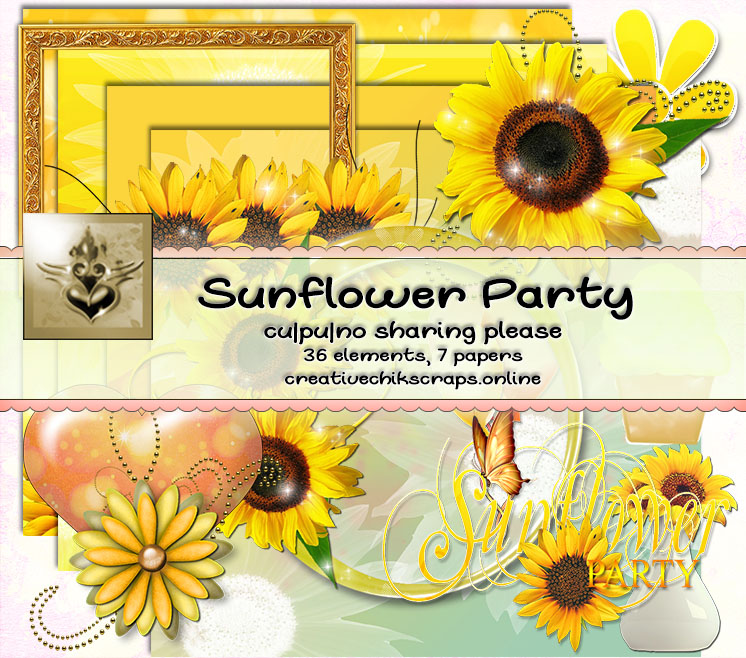 CCD-Sunflower Party Kit