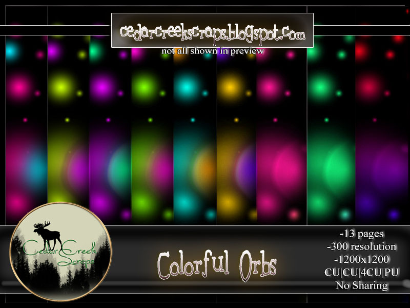 CCD-Colorful Orbs Paper Pack