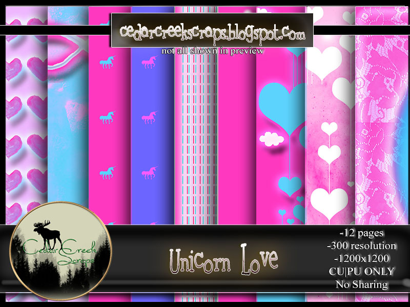 CCS-Unicorn Love Paper Pack
