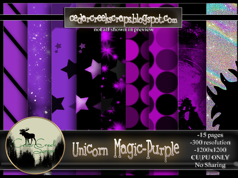 CCS-Unicorn Magic-Purple