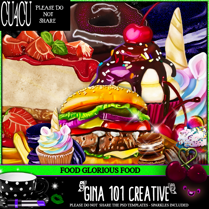 CU4CU Mega Pack Of Digitally Painted Food PSD Templates