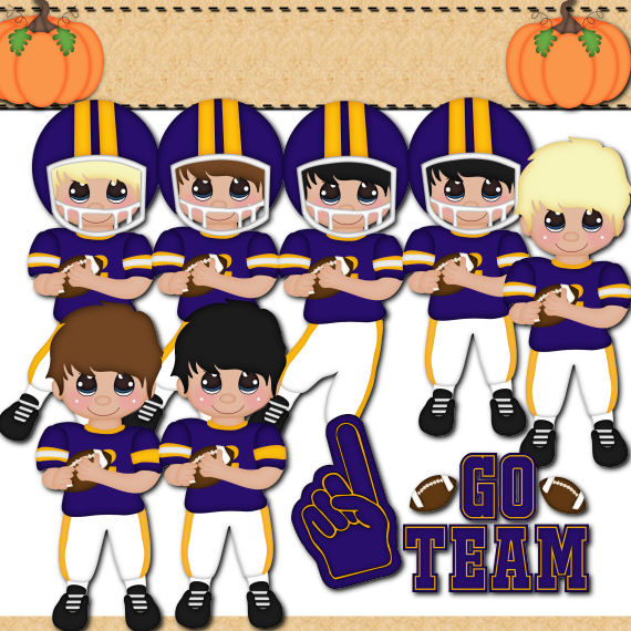 Football Players in Purple
