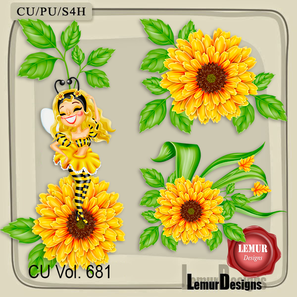 CU Vol. 681 Flowers by Lemur Designs