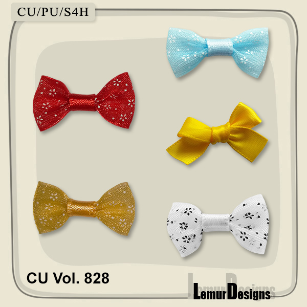 CU Vol. 828 Bows by Lemur Designs