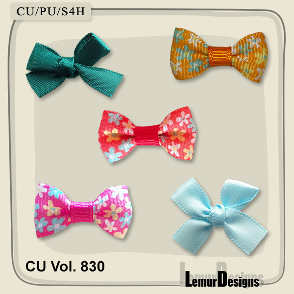 CU Vol. 830 Bows by Lemur Designs