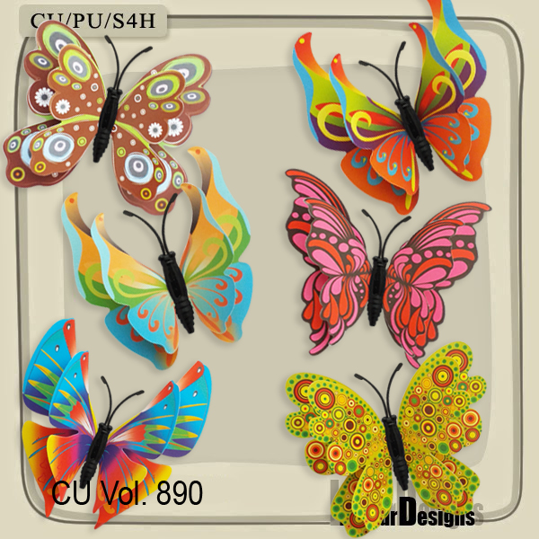 CU Vol. 890 Butterfly by Lemur Designs