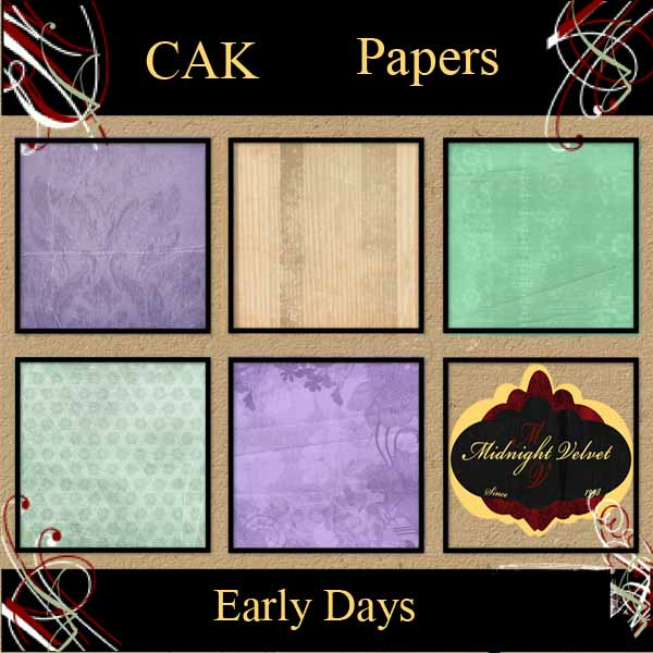 CAK August Early Days papers