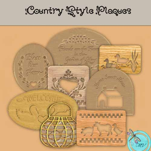 Country Plaques Element pack - Click Image to Close