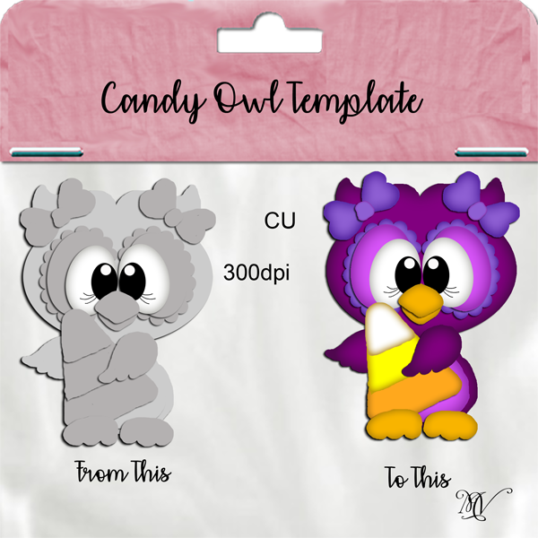 Candy Owl Template