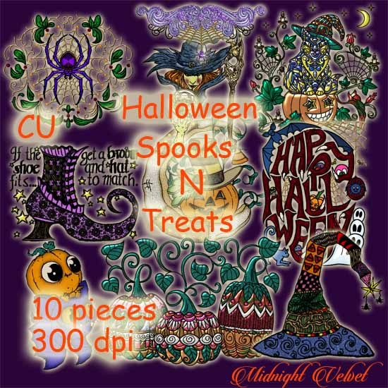 Halloween Spooks N Treats Elements