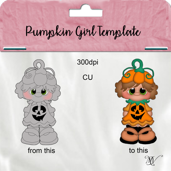 Pumpkin Kid Girl Template