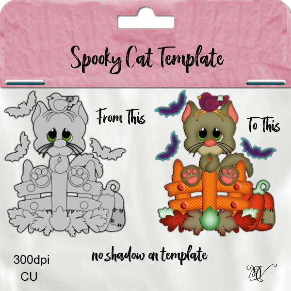 Spooky Cat Template